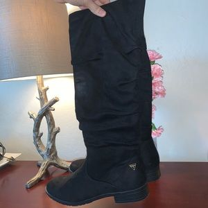 Guess Black Fabric Boots